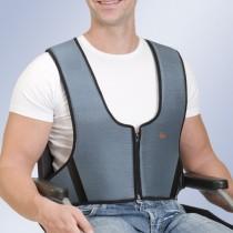 Arnês colete com zip